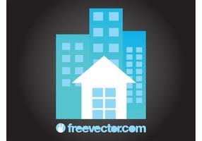 Casa y bloques de apartamentos