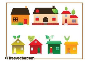 Conjunto de gráficos eco house