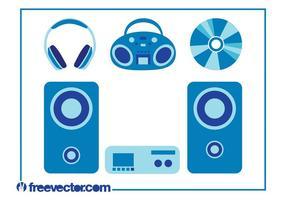 Conjunto de dispositivos de música