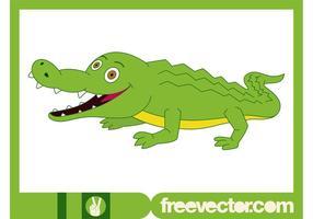 Glückliches Krokodil