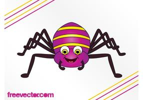 Happy Cartoon Spider