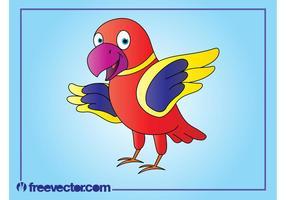 Glücklicher Cartoon Papagei
