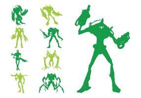 Siluetas alienígenas