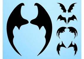 Bat Wings Silhouettes