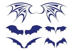 Ensemble d'ailes de chauve-souris