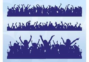 Multitudes bailando