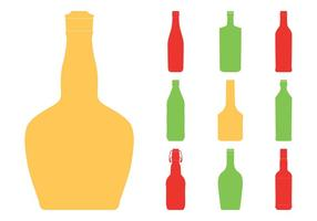 Bottle Silhouettes Set