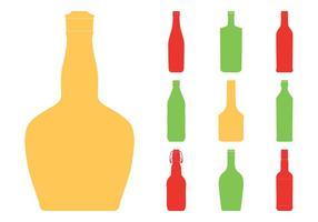 Bottle Silhouettes Set