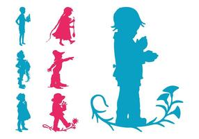 Kinder Silhouetten Set