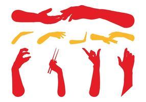 Hände Silhouetten Freie Grafiken