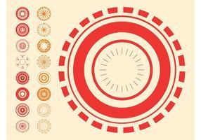 Desenhos circulares abstratos
