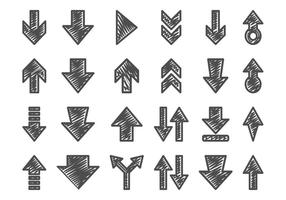 Hand-drawn-arrow-set