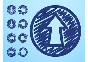 Handgezeichnete Pfeil-Ikonen