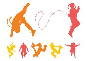 Jumping Kids Silhouettes