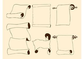 Antique Paper Scrolls