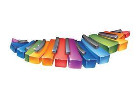 Regenbogen-Klavier