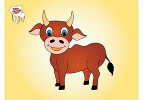 Happy Cartoon Bull