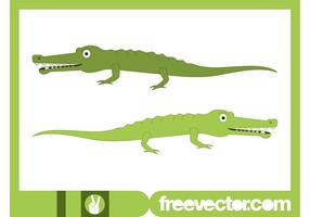 Gelukkige Cartoon Crocodiles