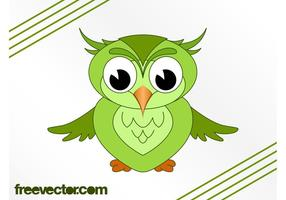 Image du hibou du dessin animé