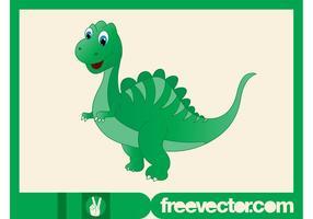 Dinosaurio feliz de la historieta
