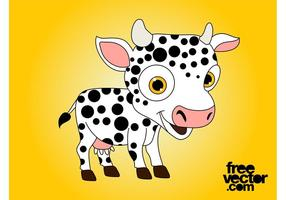 Gelukkige Cartoon Cow