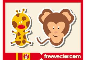 Wilde Dieren Stickers