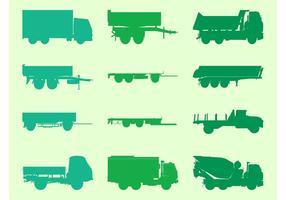 Jeu de graphiques de camions