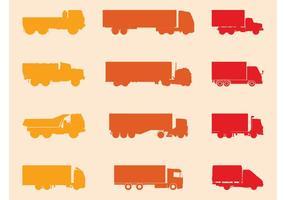 Conjunto de Silhuetas de Caminhões