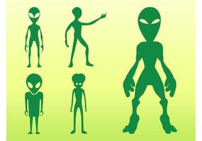 Aliens Silhouetten Set