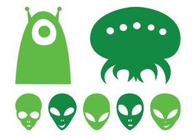 Alien Heads Set
