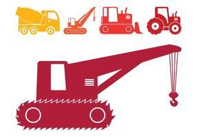 Silhuetas de veículos de construção