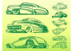 Retro auto graphics