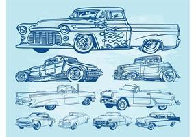 Klassische Autos Grafiken