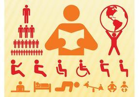 Conjunto de símbolos de personas