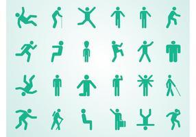 Ensemble de pictogrammes de personnes