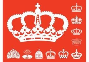 Conjunto de silhuetas de coroas
