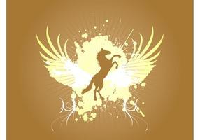 Grunge Horse Background