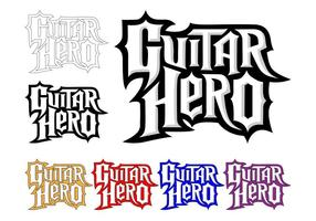 Guitar Hero Logo Set vector