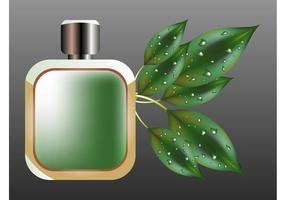 Perfume Bottle And Leaves