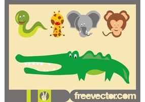Dessins animés d'animaux sauvages