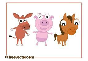 Livestock Animals Cartoons