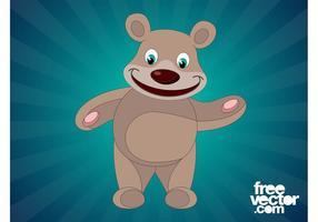 Feliz oso de dibujos animados