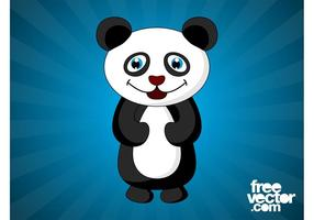 Happy Cartoon Panda