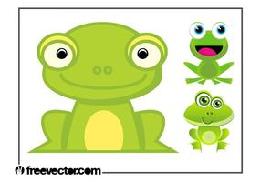Cartoon Frogs Set