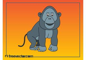 Cartoon Gorilla Graphics