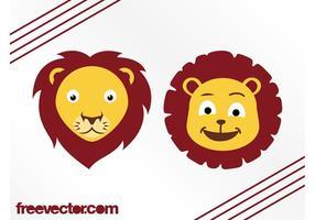 Cartoon Lion Heads