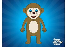 Happy Cartoon Monkey
