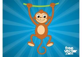 Monkey With Vine