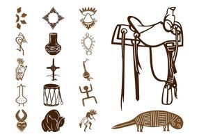 Native American Symbols Set