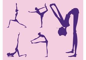 Yoga Girl Silhouettes